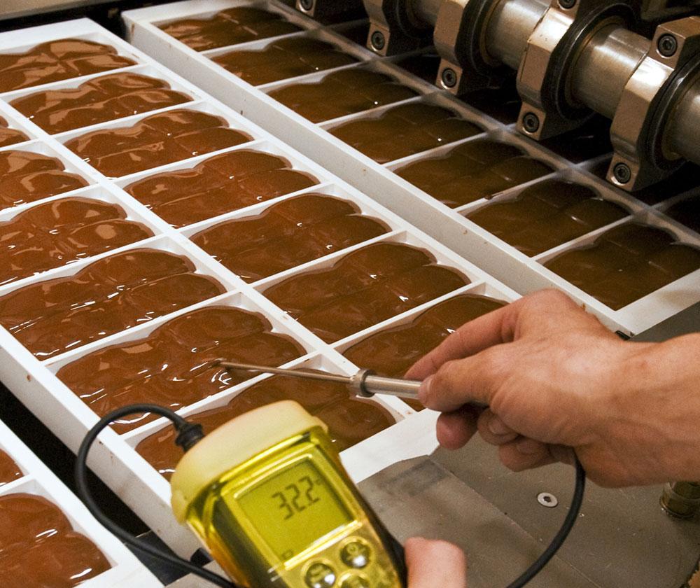 Формирование шоколада