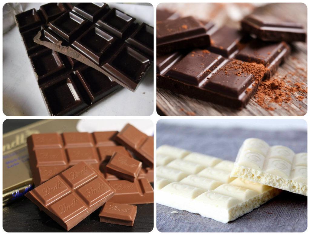 виды шоколада по содержанию какао