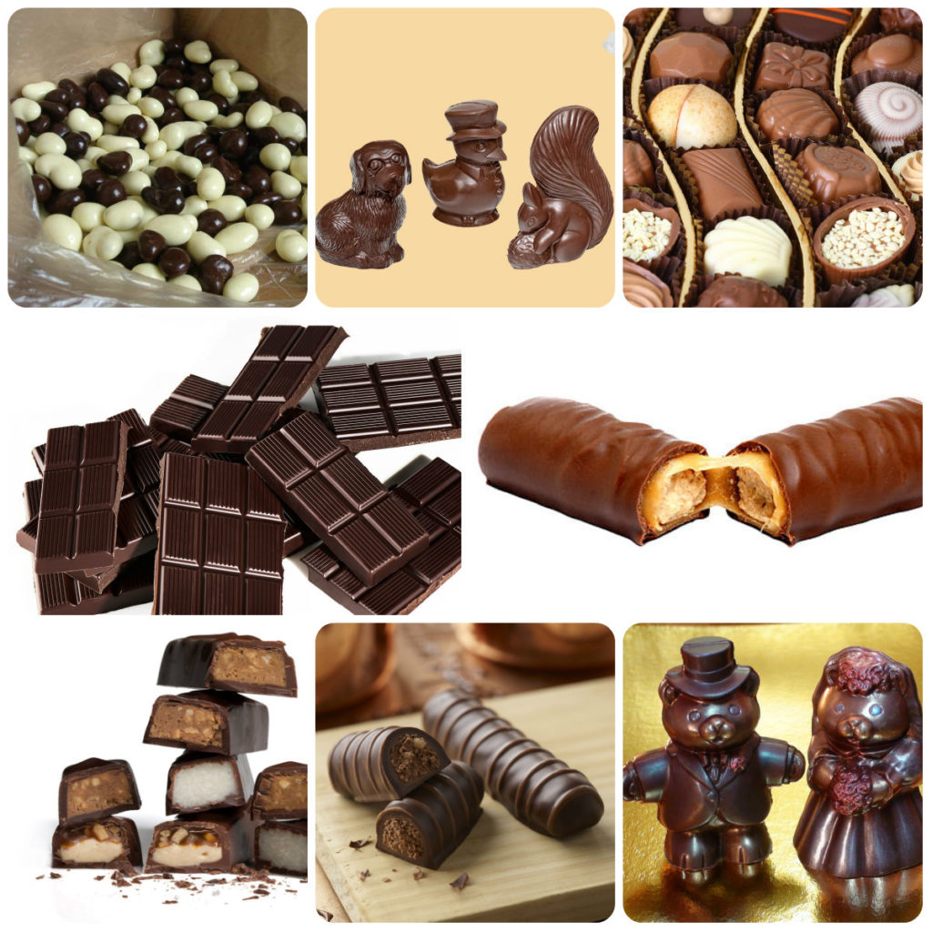 шоколад по форме