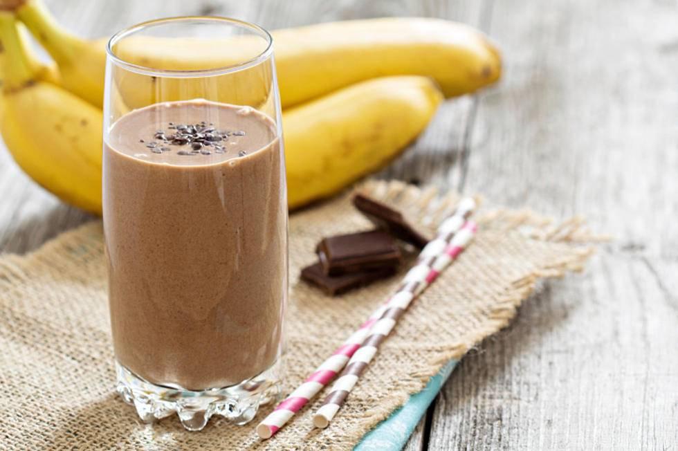 шоколадный коктейль с бананом