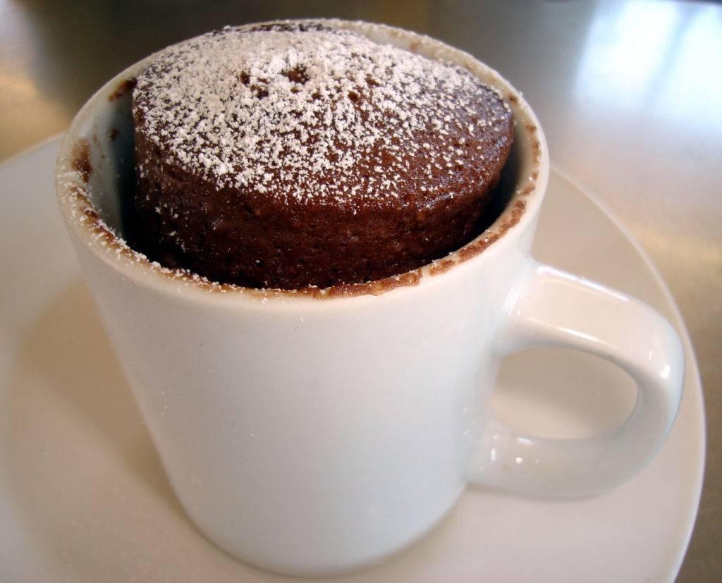 Шоколадный кекс в микроволновке в кружке: простые рецепты