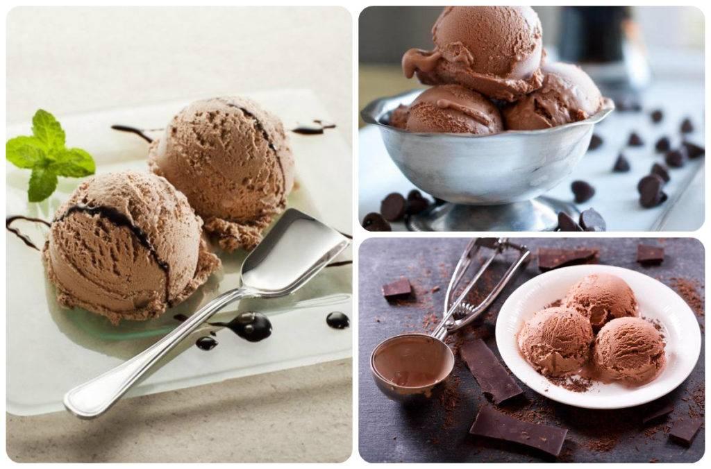 Шоколадное мороженое: рецепт с шоколадной крошкой, из какао, со сливками