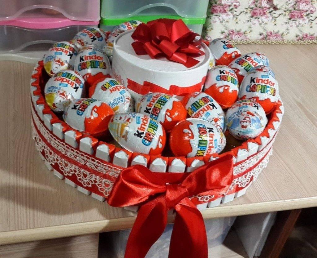 крышка для торта из киндеров