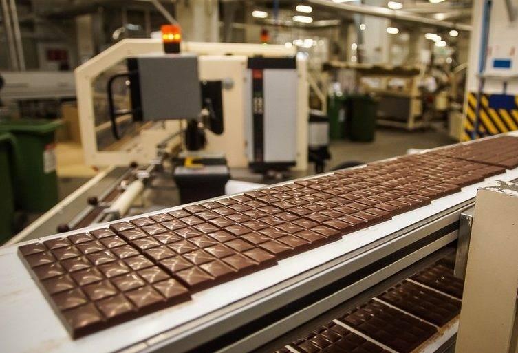 Формирование плитки шоколада