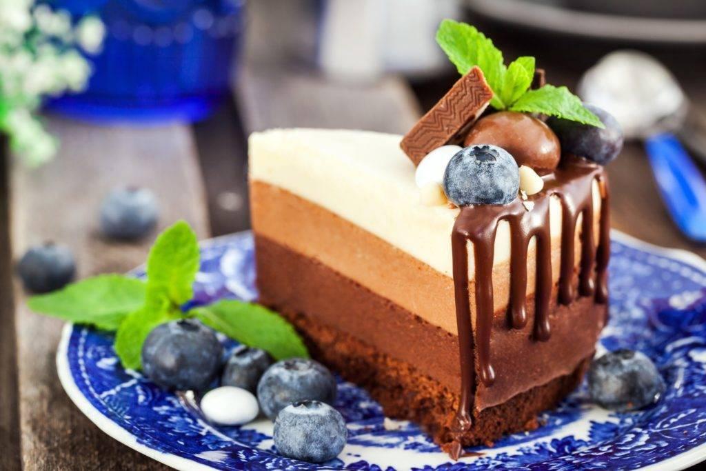 как приготовить торт три шоколада
