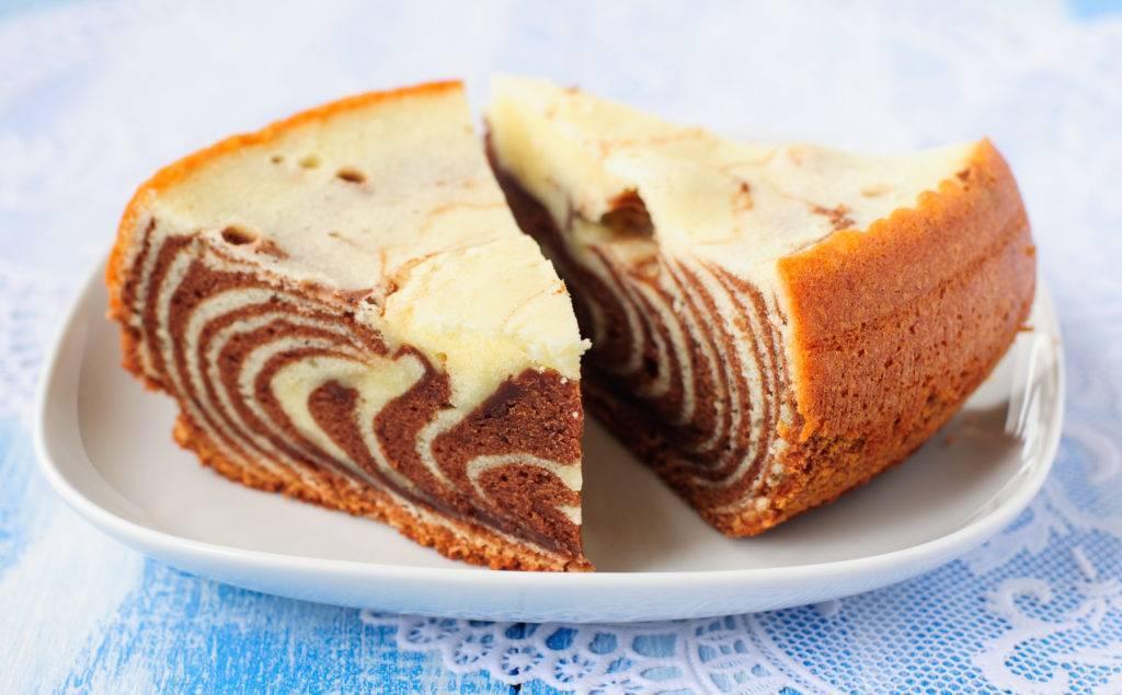 Как выглядит пирог Зебра