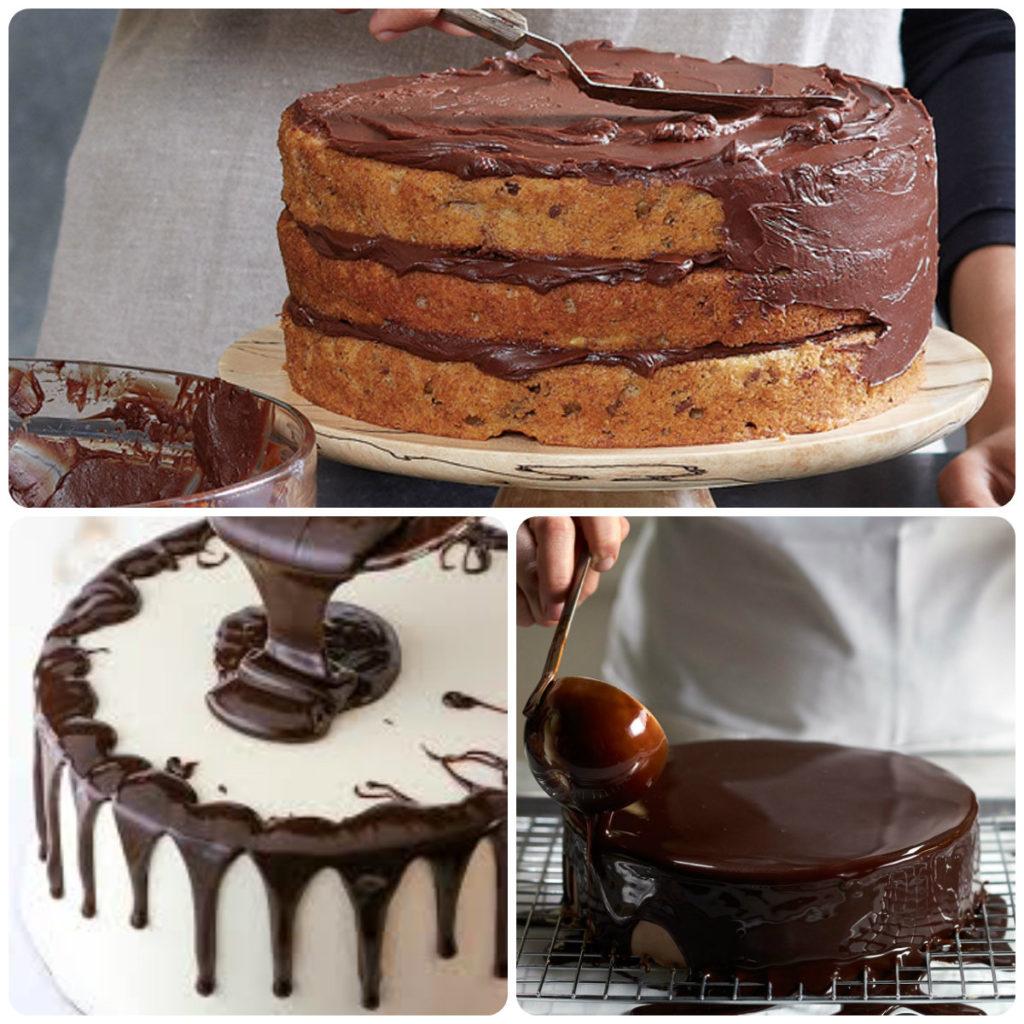 как наносить шоколадную глазурь