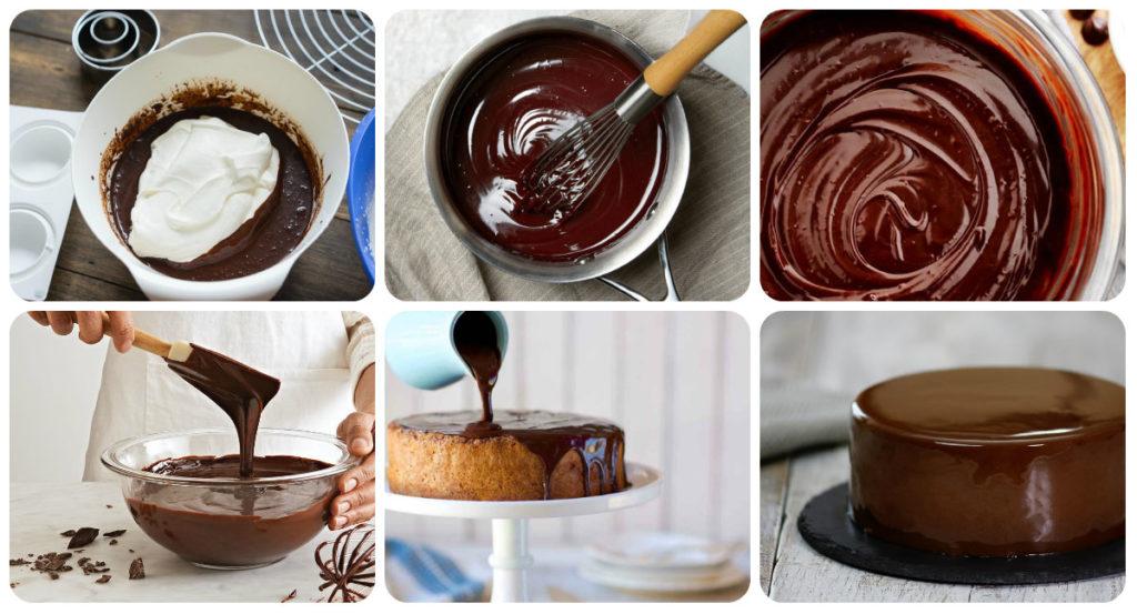 Шоколадная глазурь из какао и сливок