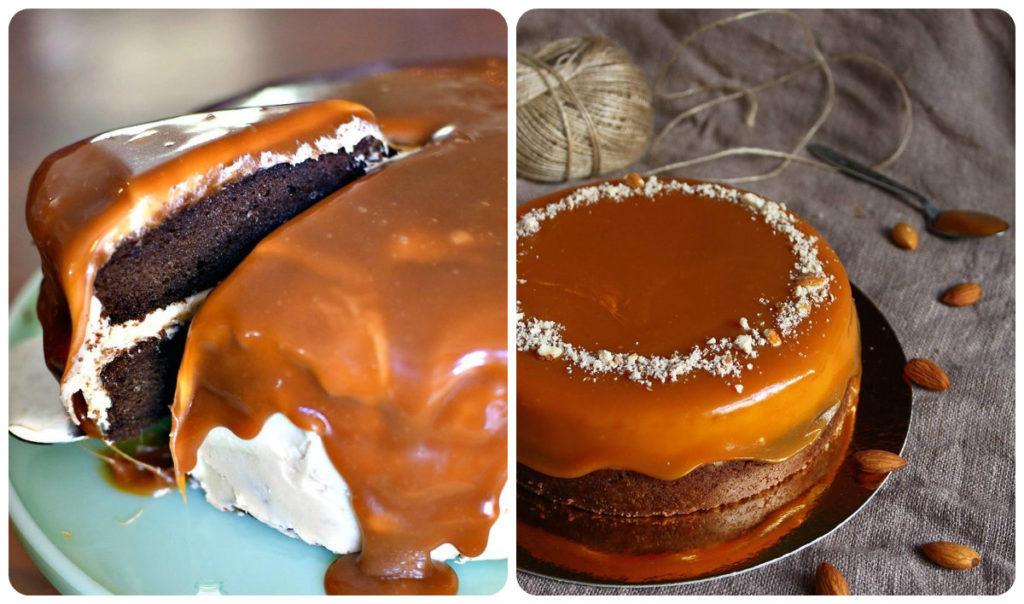 шоколадная глазурь с карамелью
