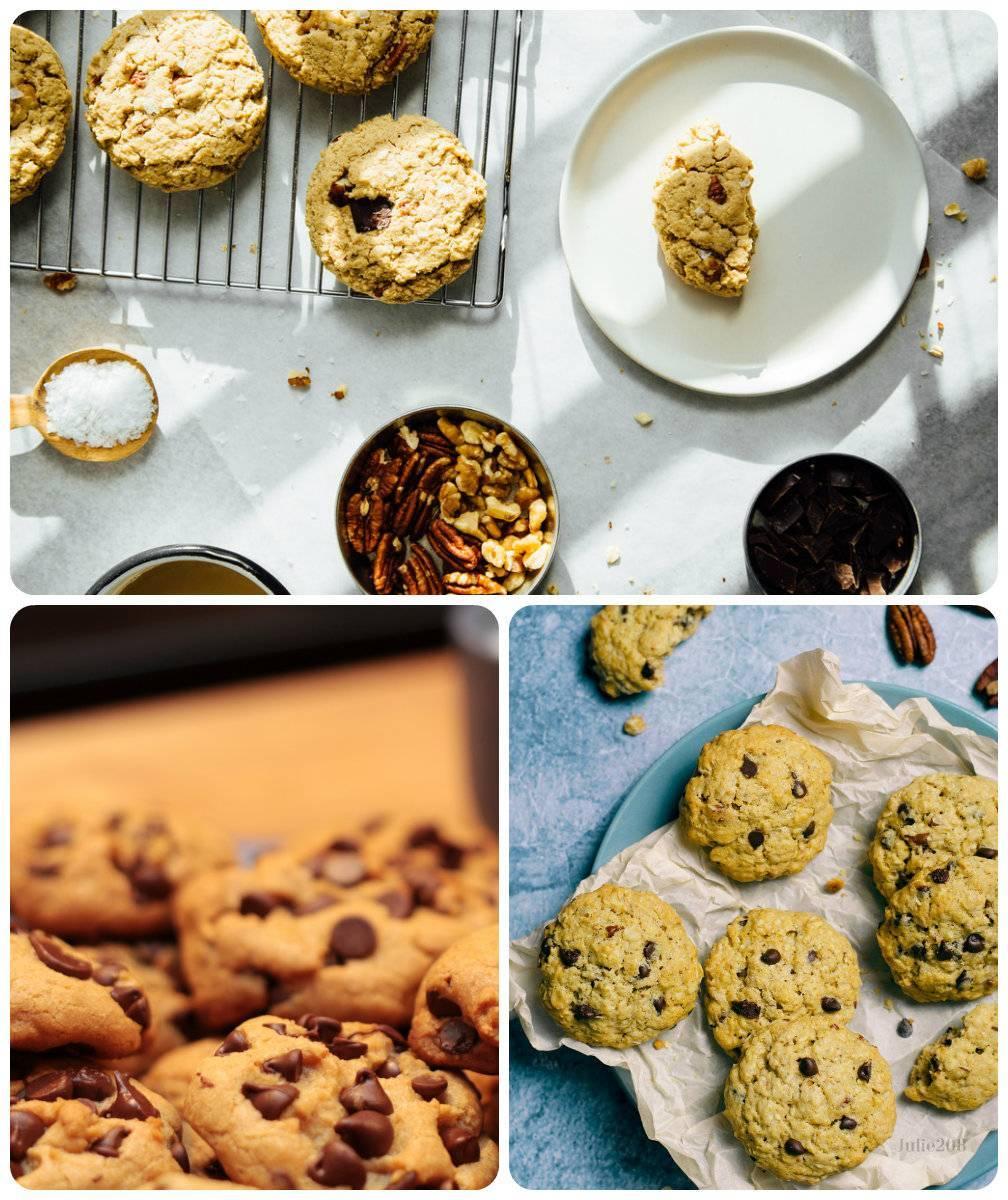 рецепт овсяного печенья с шоколадной крошкой