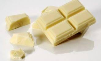 белый шоколад польза и вред