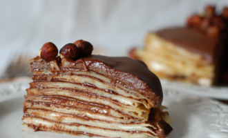 рецепт шоколадного блинного торта