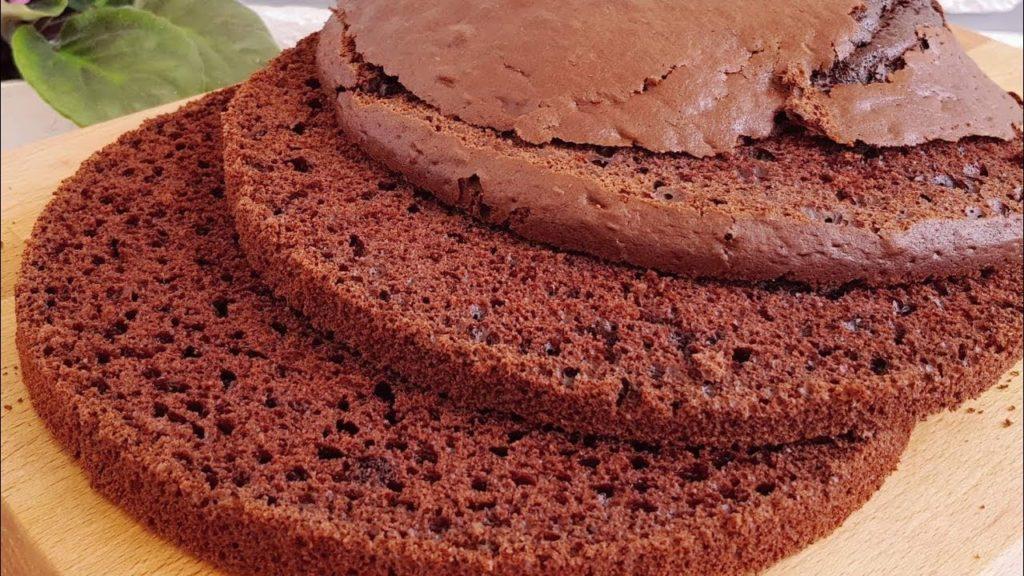 шоколадный бисквит на кефире рецепт