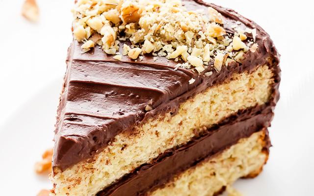 шоколадно-банановый торт со сгущенкой