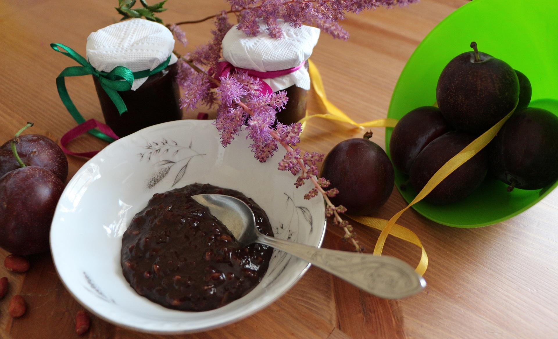 варенье со слив с какао