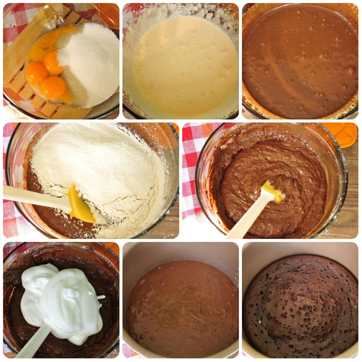 как сделать шоколадный шифоновый бисквит