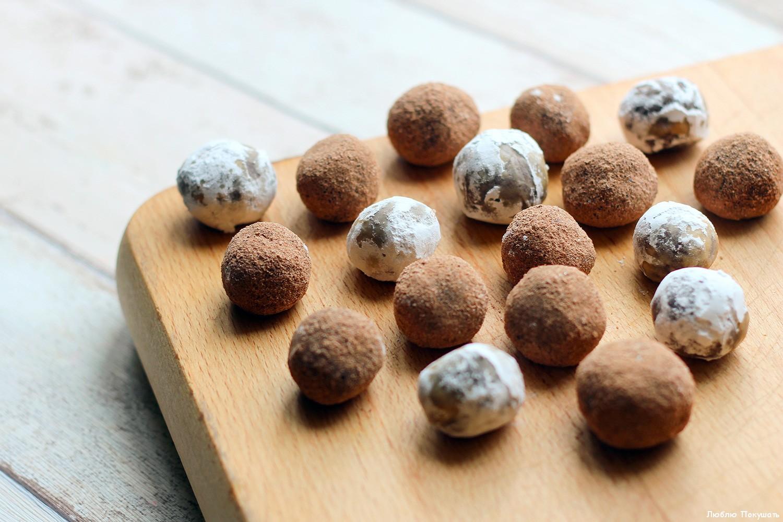 шоколадные конфеты со сгущенкой
