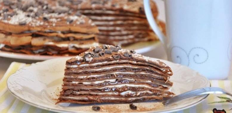 блинный шоколадный торт со сгущенкой