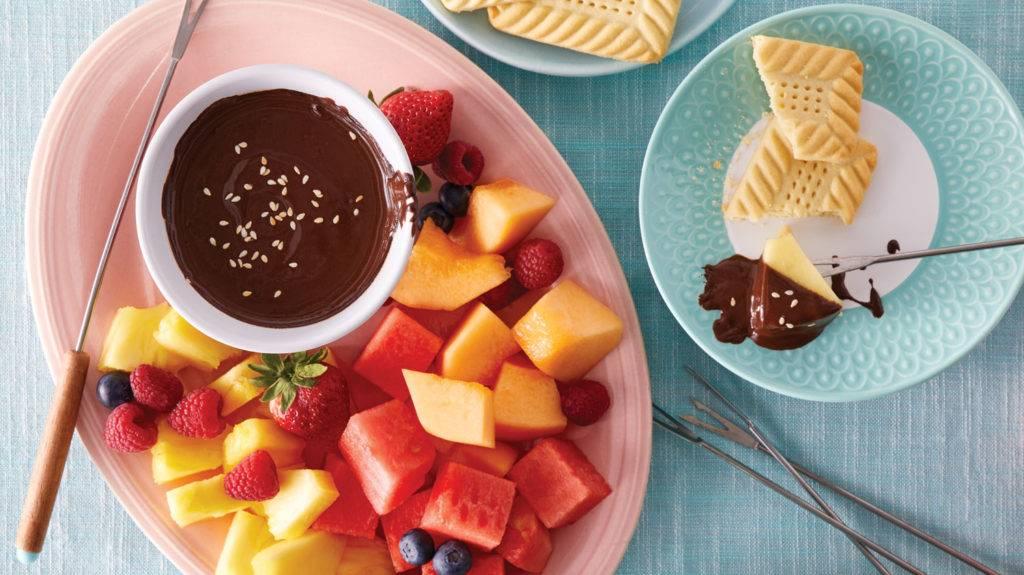 с чем едят шоколадное фондю идеи