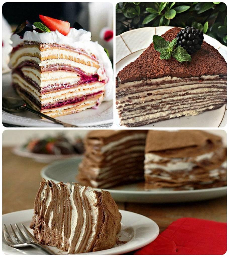 торт блинный рецепт с фото в домашних один