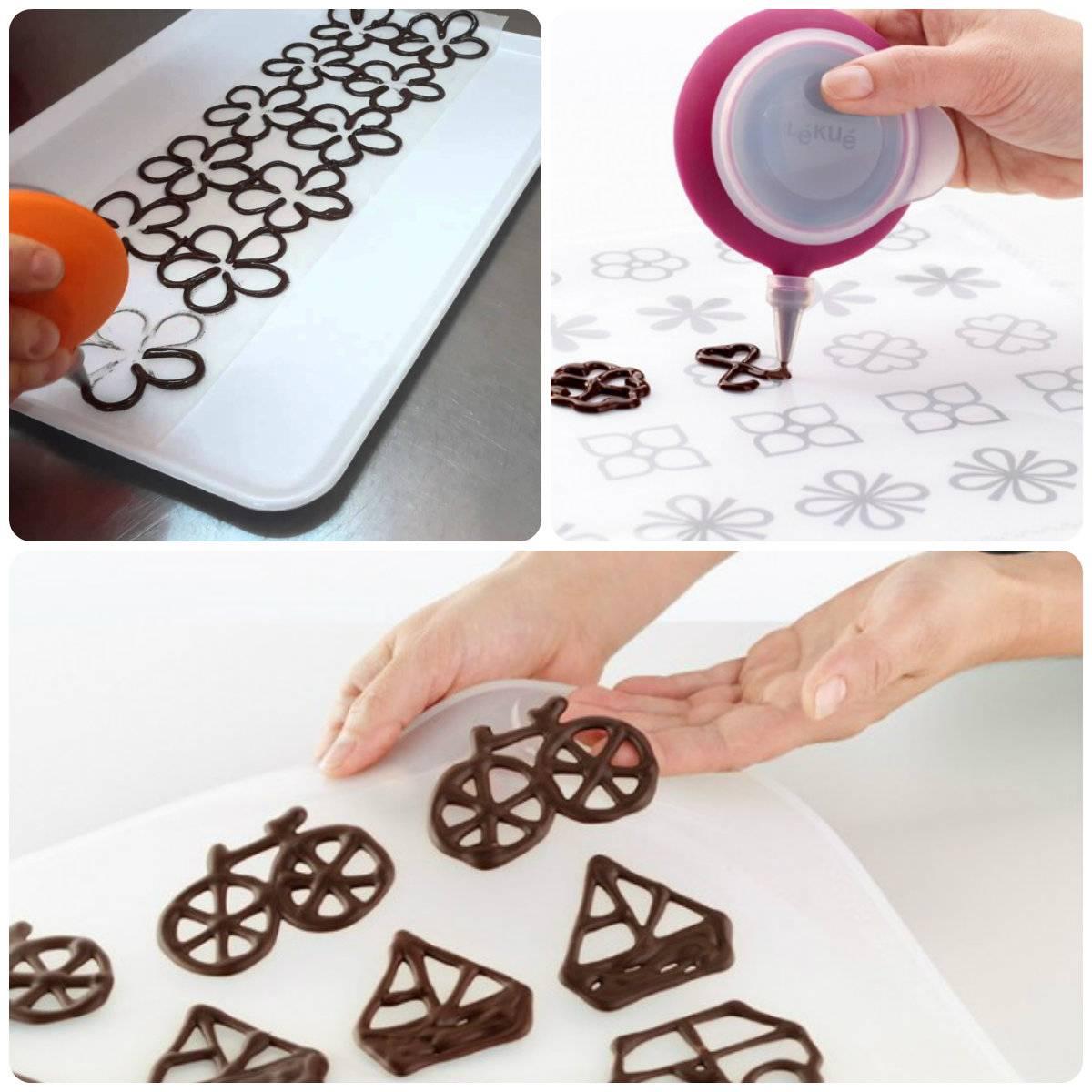 рисунки из шоколада на торт как делать меня