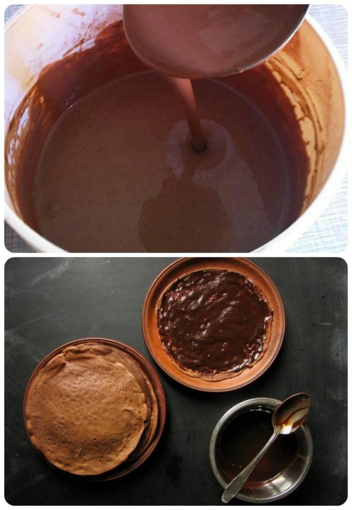 блины на молоке с шоколадом