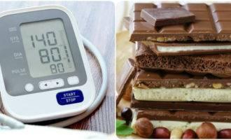 шоколад повышает или понижает давление