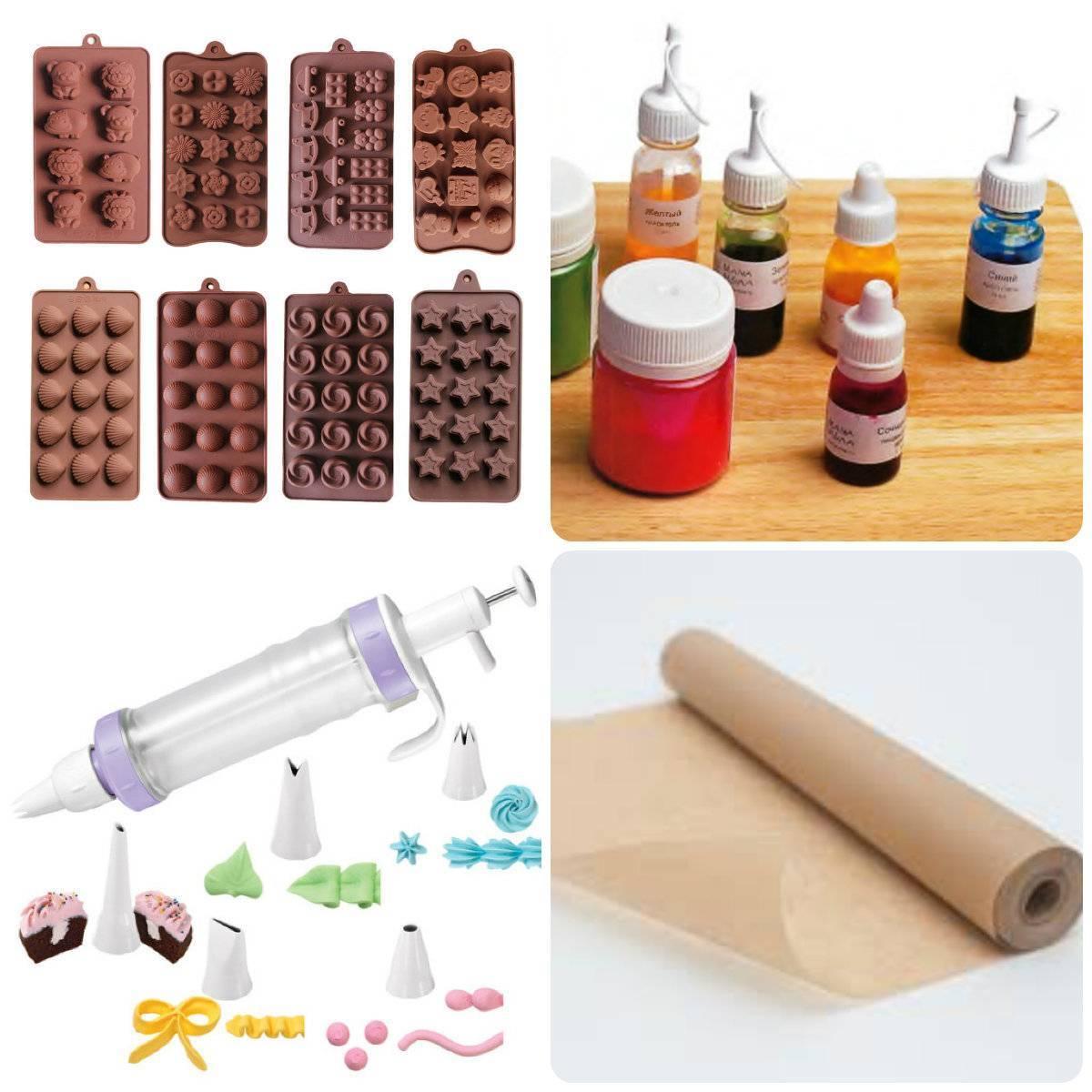 инструменты для шоколадных фигурок