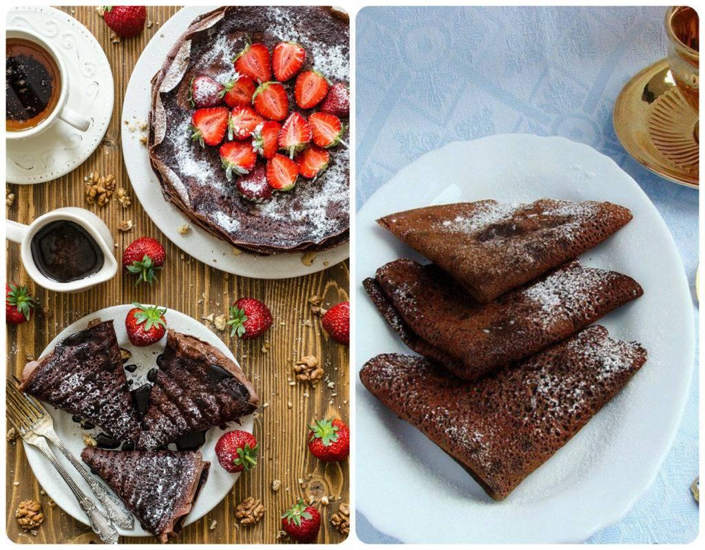 шоколадные блинчики на кефире рецепт