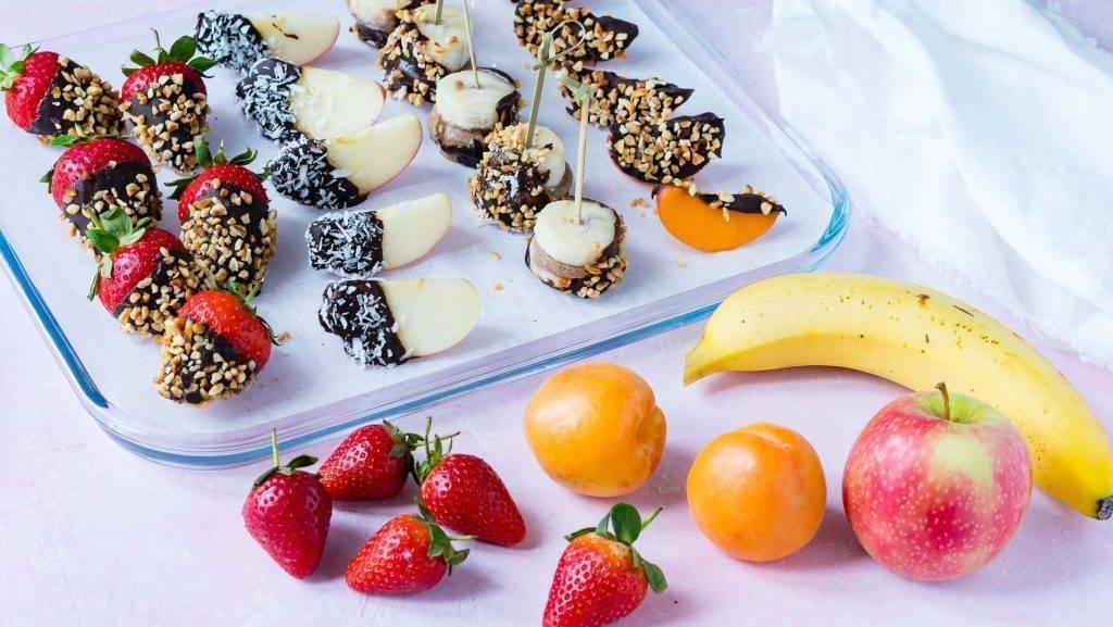 как сделать фрукты в шоколаде