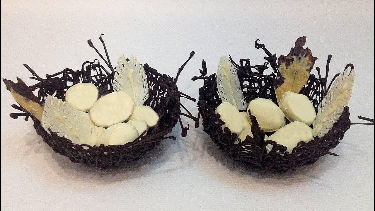 гнездо из шоколада