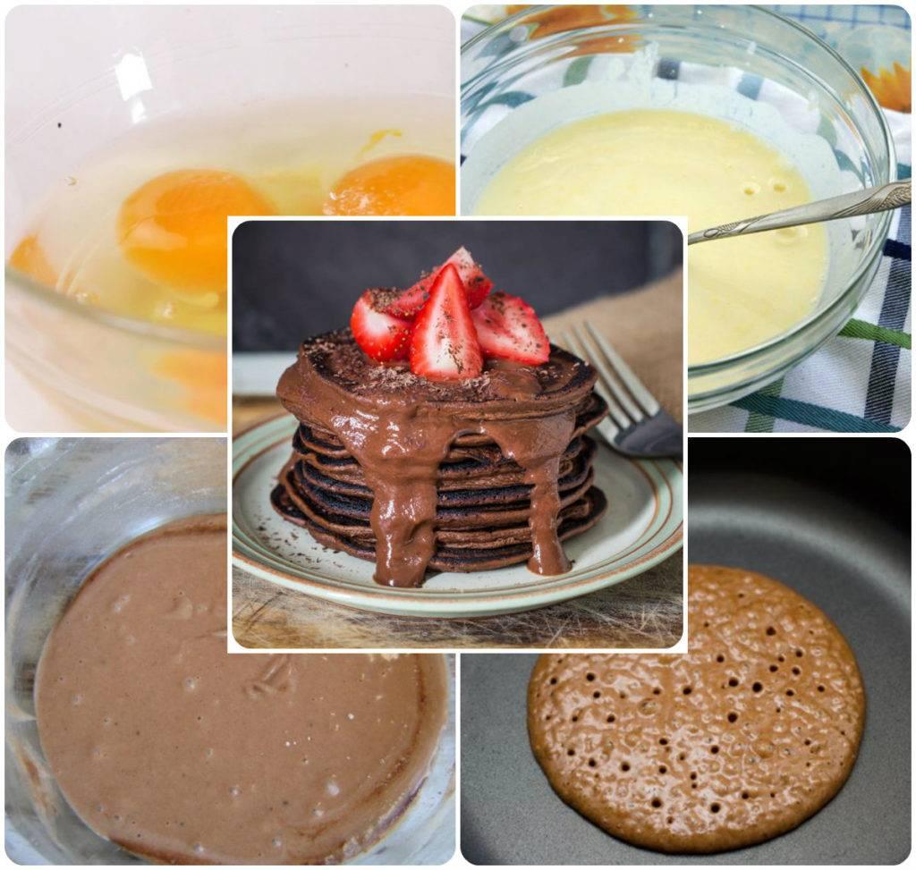 американские шоколадные панкейки рецепт
