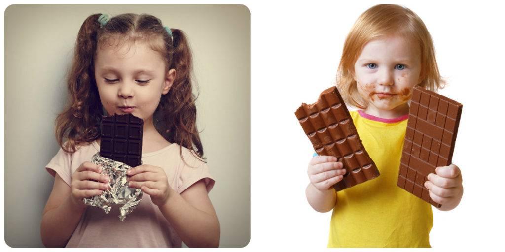 польза и вред шоколада для детей