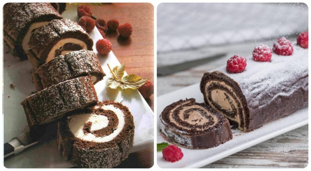 шоколадный рулет с шоколадным кремом рецепт