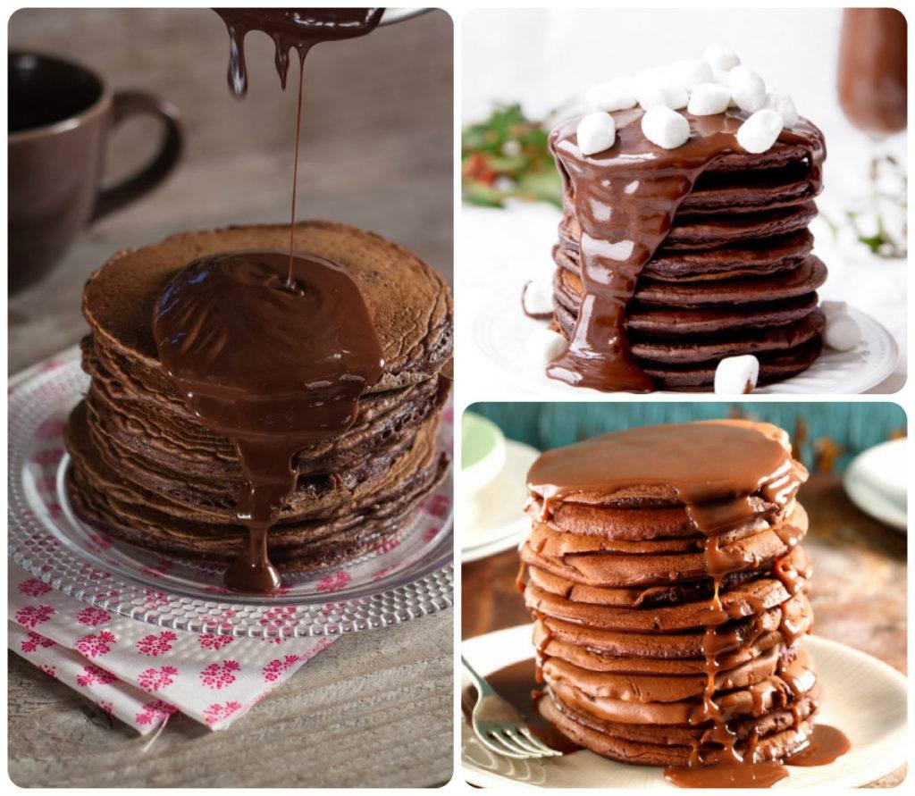 Шоколадные панкейки на кефире рецепт