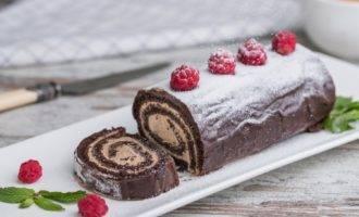 шоколадный рулет рецепт