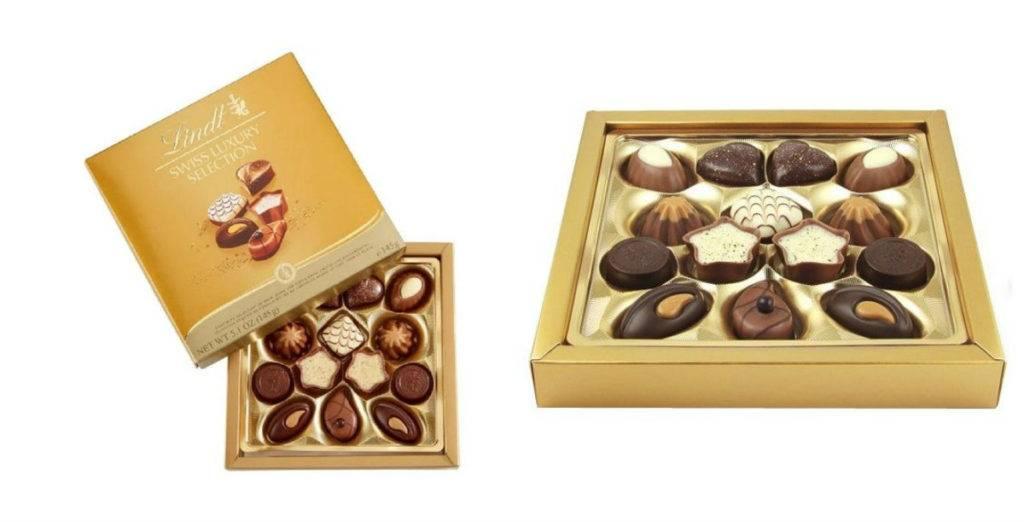 конфеты линдт в коробке