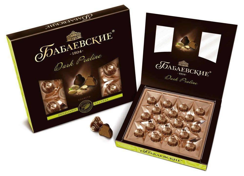 бабаевские конфеты в коробке
