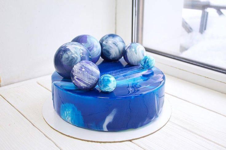 шоколадные шары в стиле космос