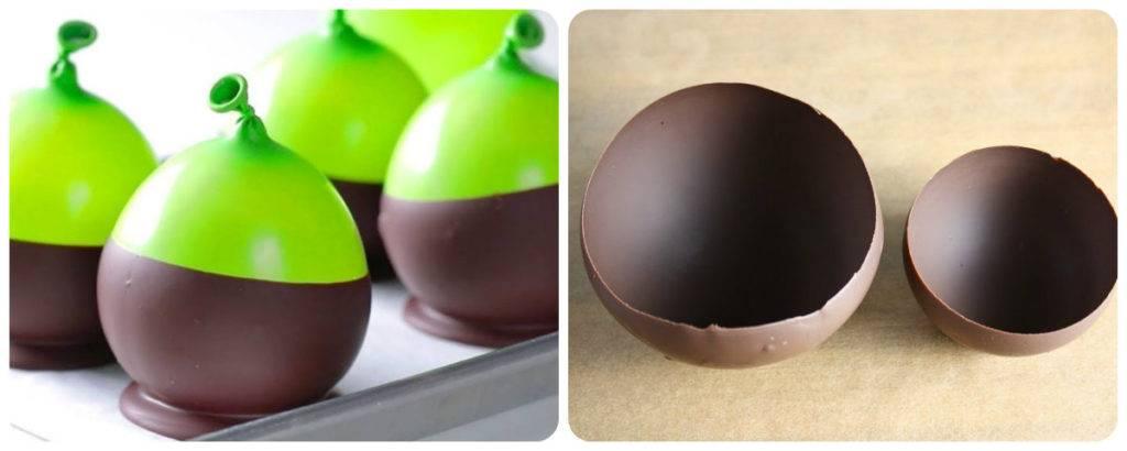 шоколадные полые шары