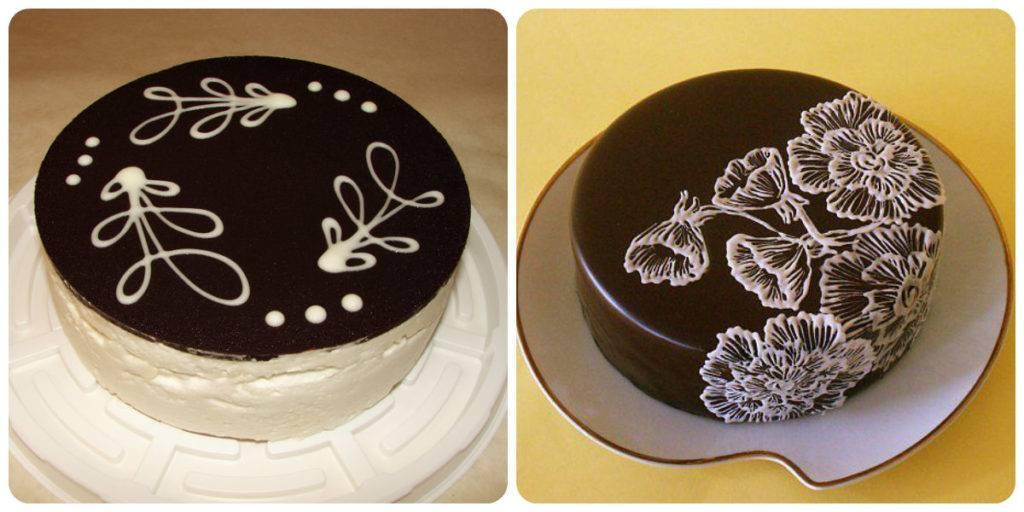 шоколадный рисунок на торте