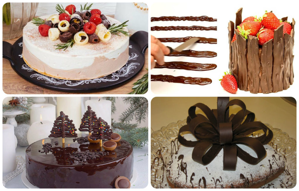 варианты украшений торта