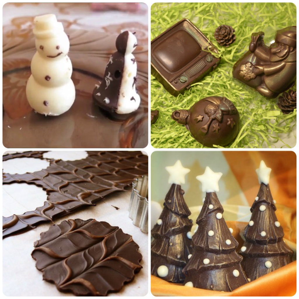 шоколадные фигурки на торт