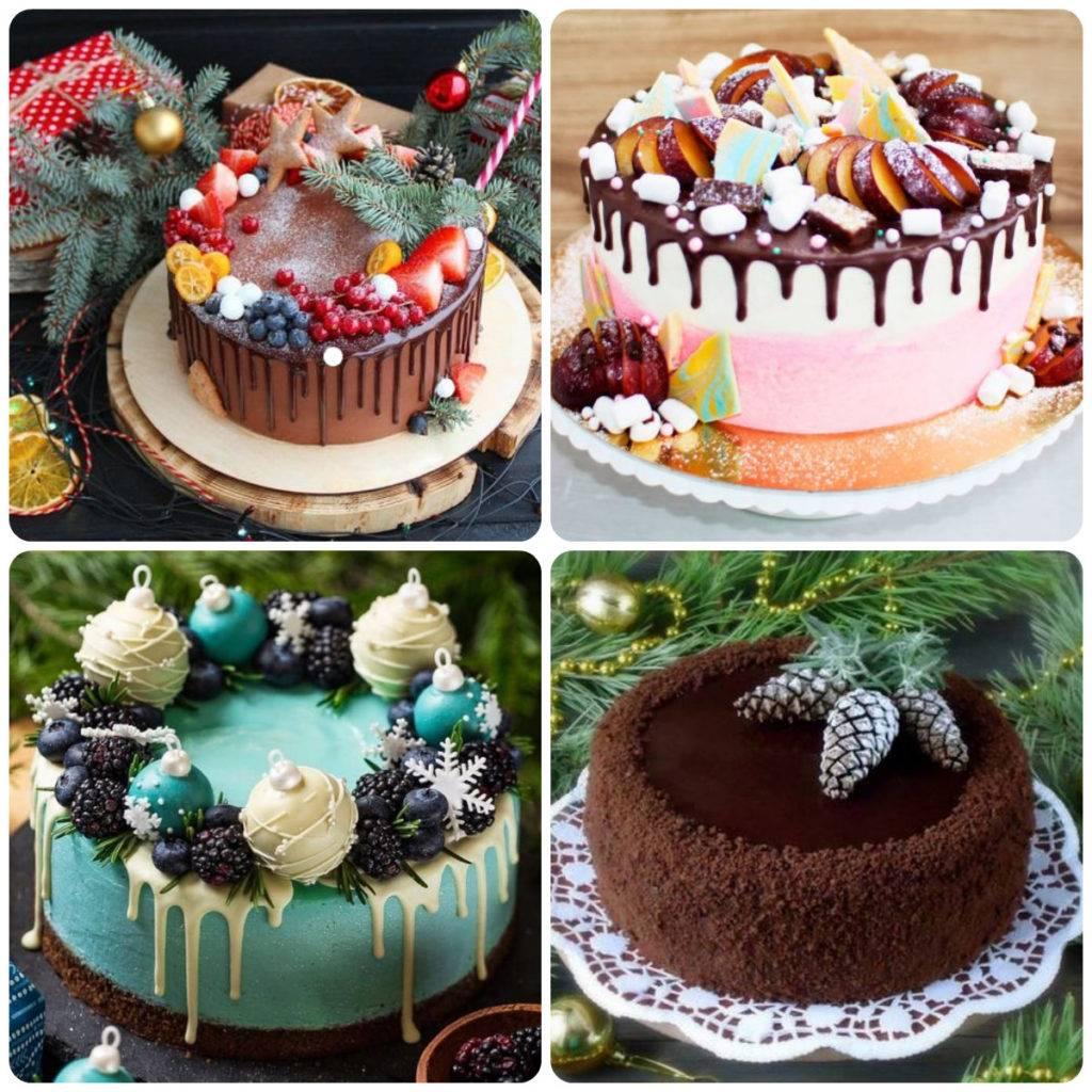 идеи украшения торта на новый год