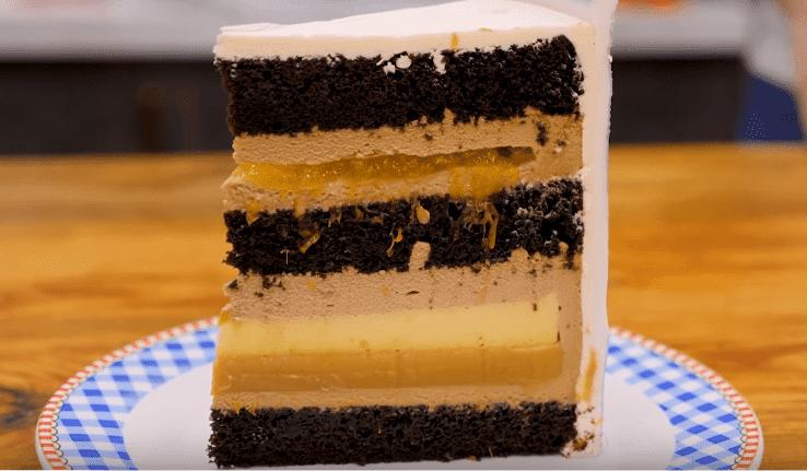 новогодний шоколадный торт
