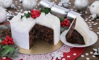 шоколадный рождественский кекс