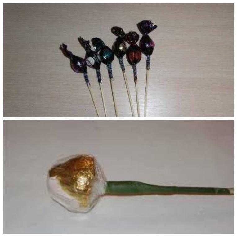 как закрепить конфеты