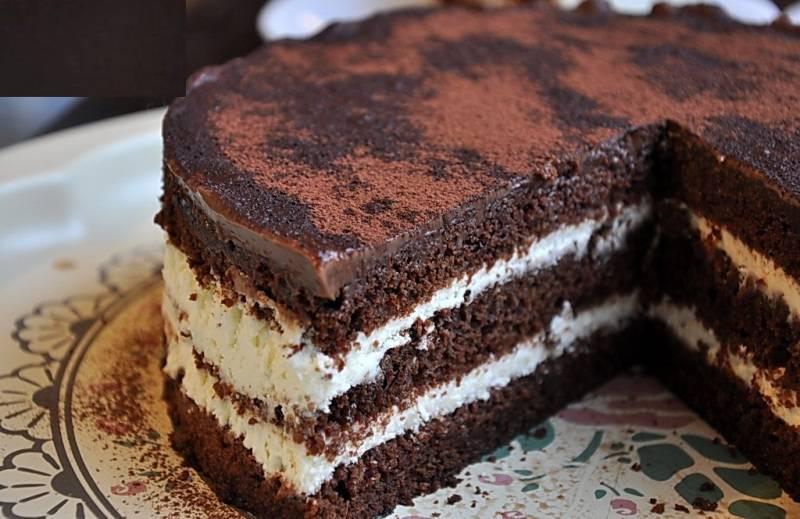 Шоколадный торт с заварным кремом рецепт