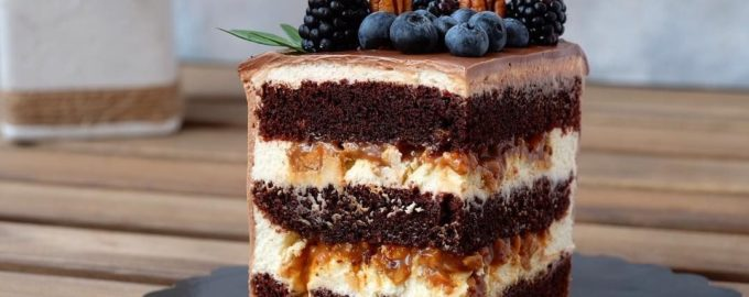 шоколадно творожный торт