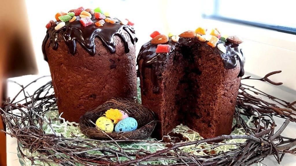 шоколадный кулич простой рецепт